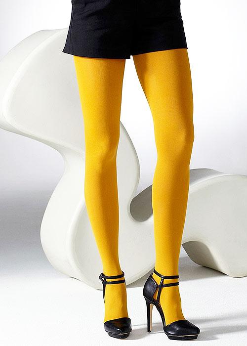 Gipsy 100 Denier Coloured Opaque Tights yellow