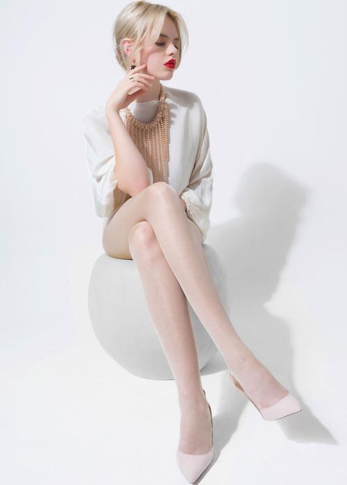 Trasparenze Silk Tights white