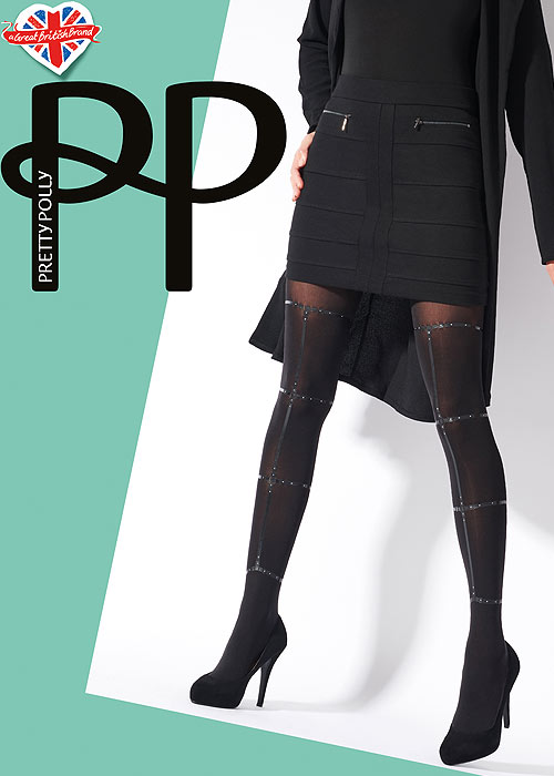 Pretty Polly Strapped Opaque Tights