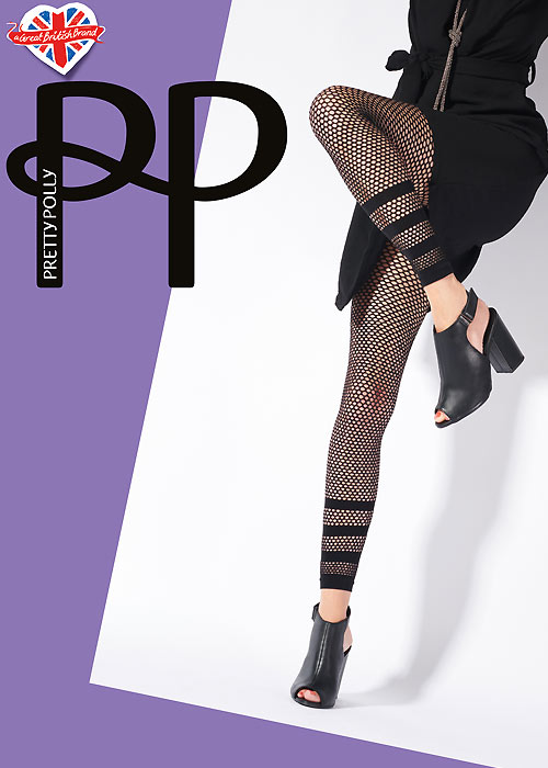 Pretty Polly Fishnet Footless Tights