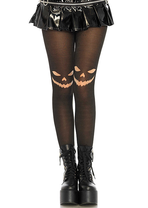 Leg Avenue Halloween Tights Jack Smile