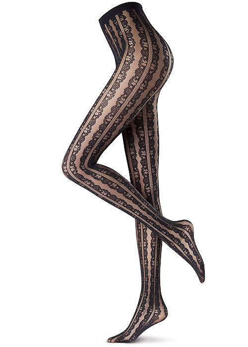 Abstract printed tights by Oroblu