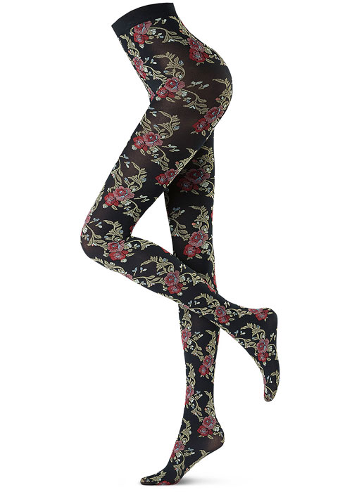 Oroblu Tights Autumn Winter 2018 floral pattern