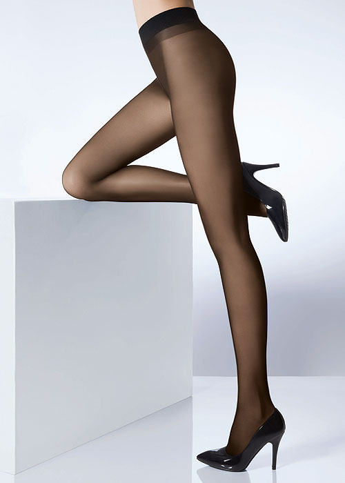 30 Denier Black Semi-Opaque Tights