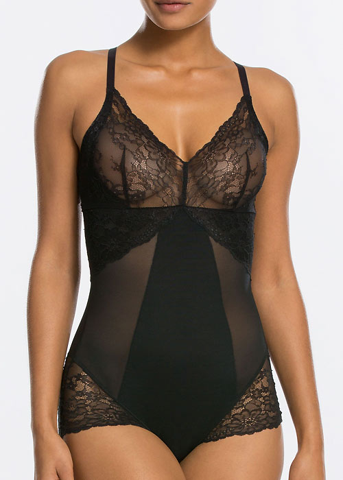 Spanx black shaping bodysuit