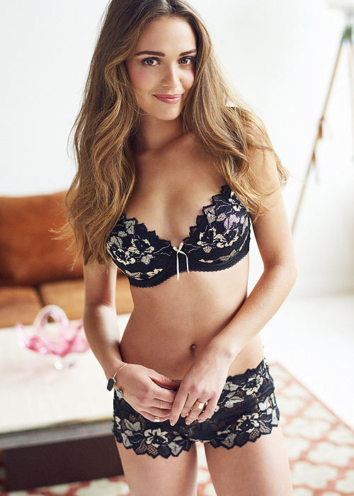 Lepel Gold and Black Floral Lingerie set