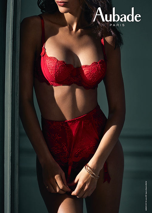 Aubade Red Sexy Lingerie Style in lace