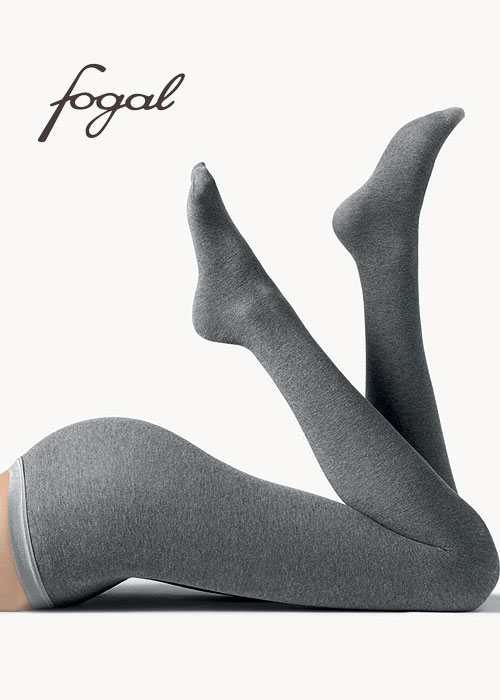 Fogal luxury cotton and cashmere tights in grey