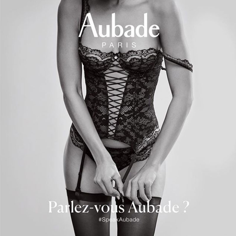 Aubade lingerie set sq