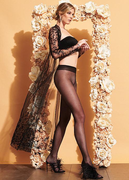 Black tights with Sparkle lurex detail
