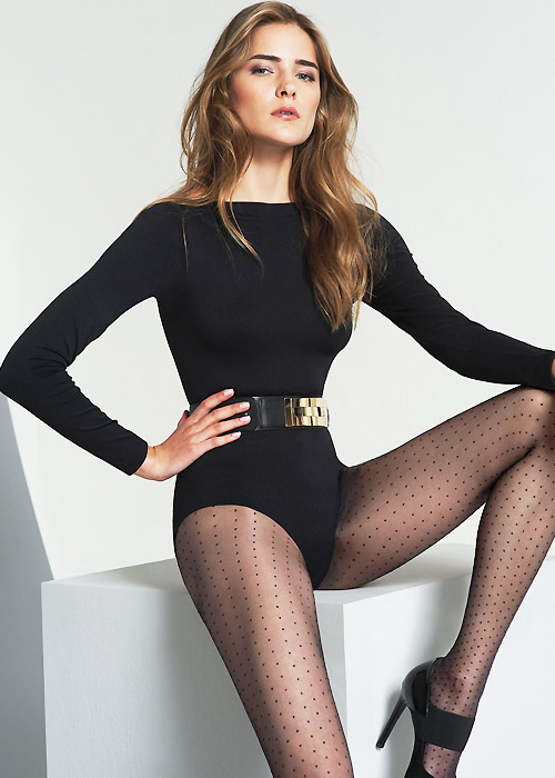 Elegant polka dot statement tights