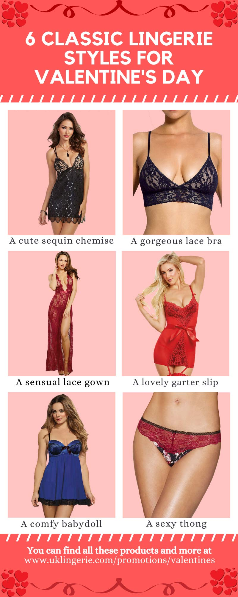 Six Best Lingerie Sets Valentines Day 2020