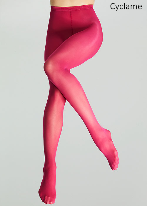 Pink 30 denier tights by Fogal