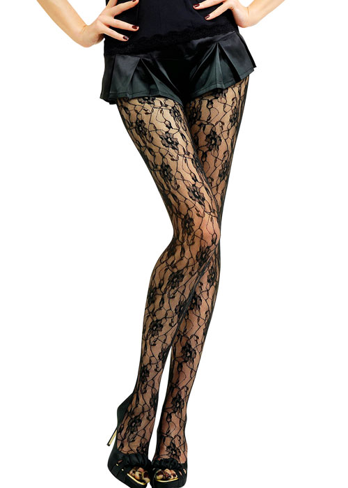 Jonathan Aston Sweet Roses Lace Tights