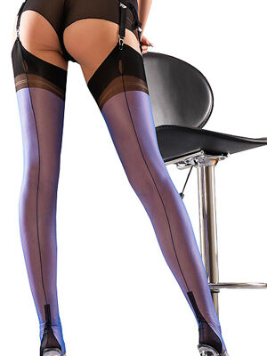 Gio Full Contrast Cuban Heel Stockings